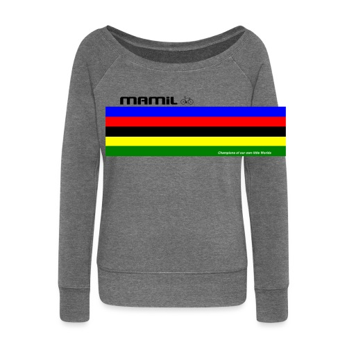 MAMiL My Own World Champion Mouse Mat - Women's Boat Neck Long Sleeve Top