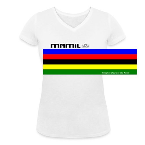 MAMiL My Own World Champion Mouse Mat - Women's Organic V-Neck T-Shirt by Stanley & Stella