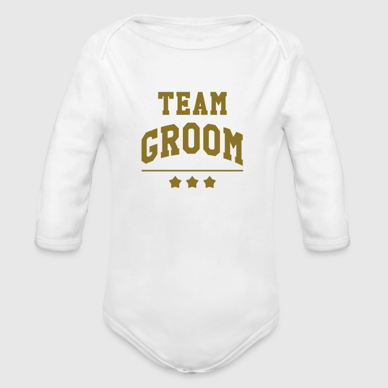 Team Groom - Wedding Hoodies - Longlseeve Baby Bodysuit