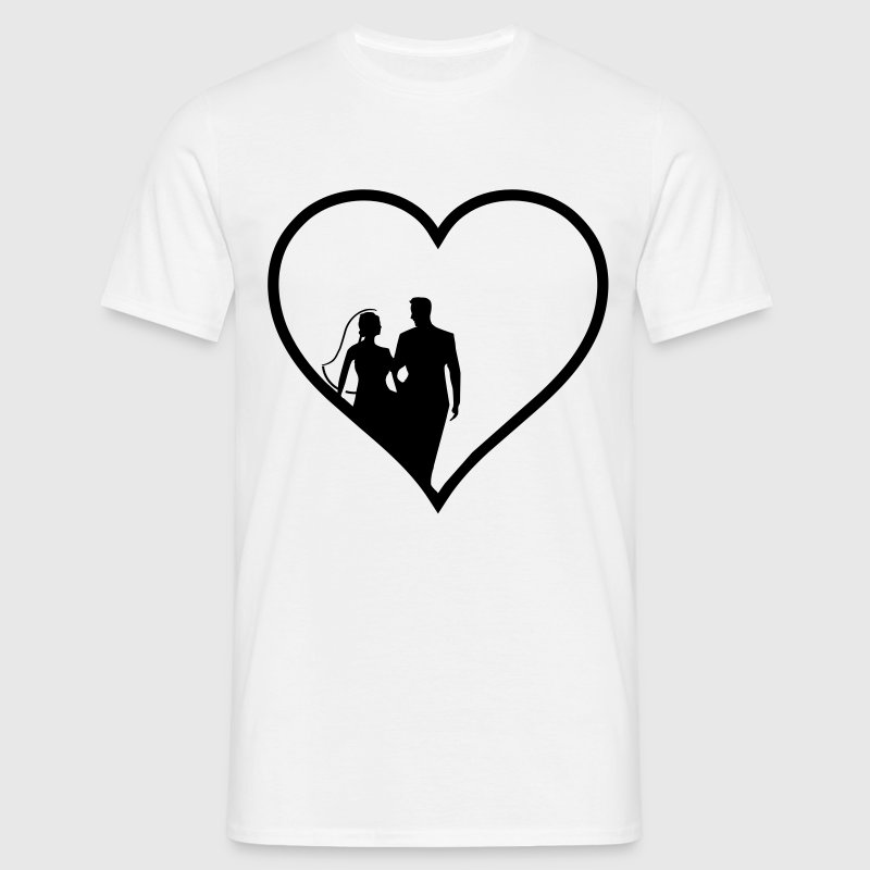 Marriage happy heart T-Shirts - Men's T-Shirt