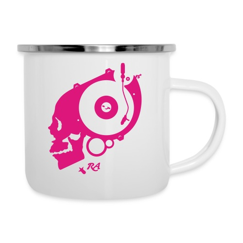 Remember Analog Skull © forbiddenshirts.de - Emaille-Tasse