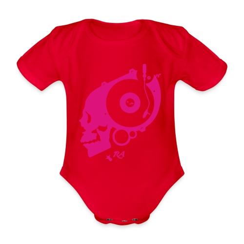 Remember Analog Skull © forbiddenshirts.de - Baby Bio-Kurzarm-Body