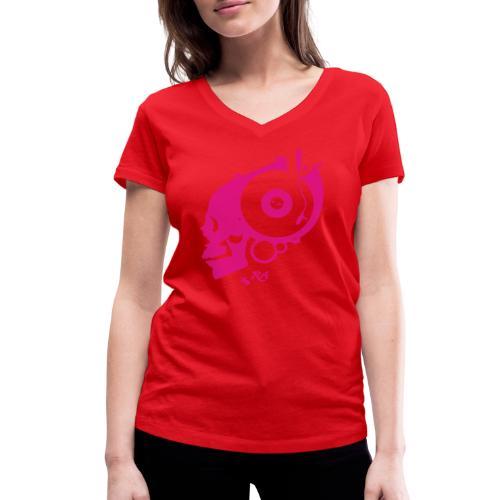 Remember Analog Skull © forbiddenshirts.de - Frauen Bio-T-Shirt mit V-Ausschnitt von Stanley & Stella
