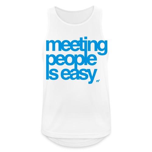 Meeting people is easy © forbiddenshirts.de - Männer Tank Top atmungsaktiv
