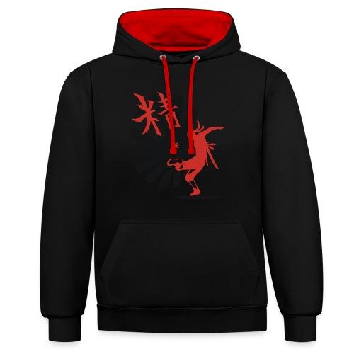 Hack Ninja! – Organic © forbiddenshirts.de - Kontrast-Hoodie