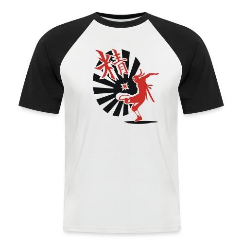 Hack Ninja! – Organic © forbiddenshirts.de - Männer Baseball-T-Shirt