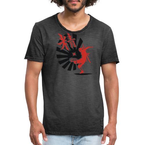 Hack Ninja! – Organic © forbiddenshirts.de - Männer Vintage T-Shirt