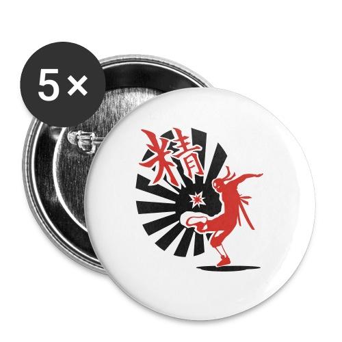 Hack Ninja! – Organic © forbiddenshirts.de - Buttons groß 56 mm