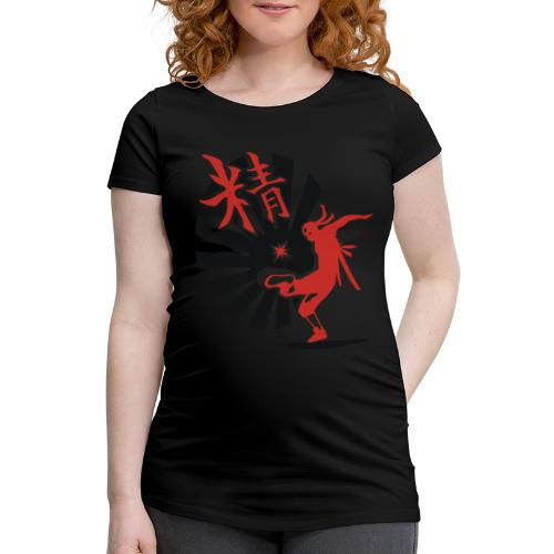 Hack Ninja! – Organic © forbiddenshirts.de - Frauen Schwangerschafts-T-Shirt