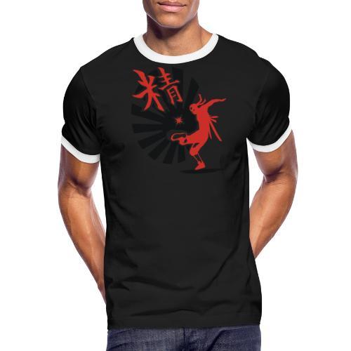 Hack Ninja! – Organic © forbiddenshirts.de - Männer Kontrast-T-Shirt