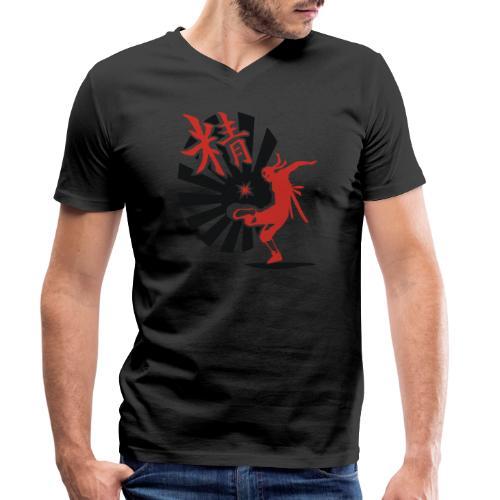 Hack Ninja! – Organic © forbiddenshirts.de - Männer Bio-T-Shirt mit V-Ausschnitt von Stanley & Stella