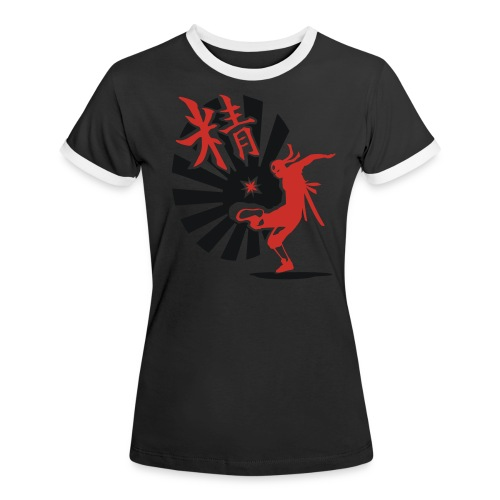 Hack Ninja! – Organic © forbiddenshirts.de - Frauen Kontrast-T-Shirt
