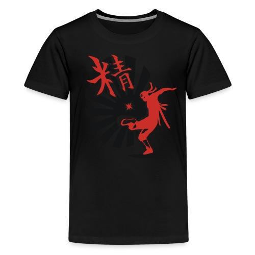 Hack Ninja! – Organic © forbiddenshirts.de - Teenager Premium T-Shirt