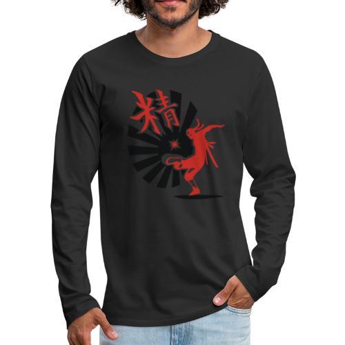 Hack Ninja! – Organic © forbiddenshirts.de - Männer Premium Langarmshirt