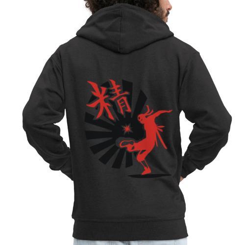 Hack Ninja! – Organic © forbiddenshirts.de - Männer Premium Kapuzenjacke