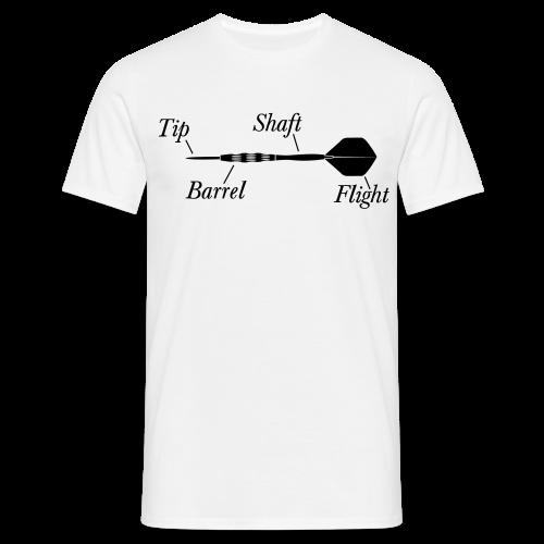 Dartpfeil Beschreibung Shirt - Männer T-Shirt