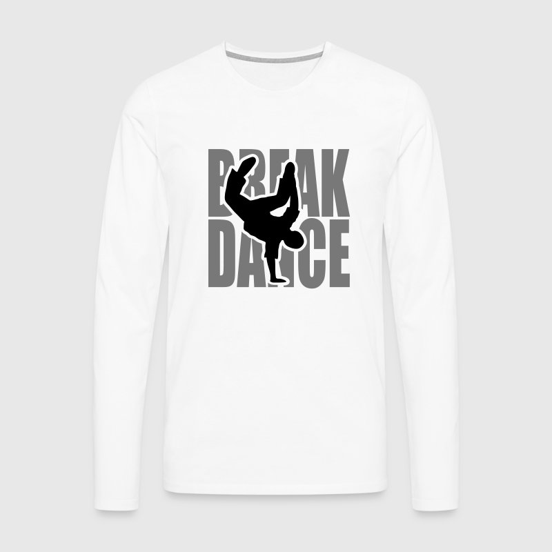 Breakdance Breakdancer Moves Freeze Logo Battle  Langarmshirts - Männer Premium Langarmshirt