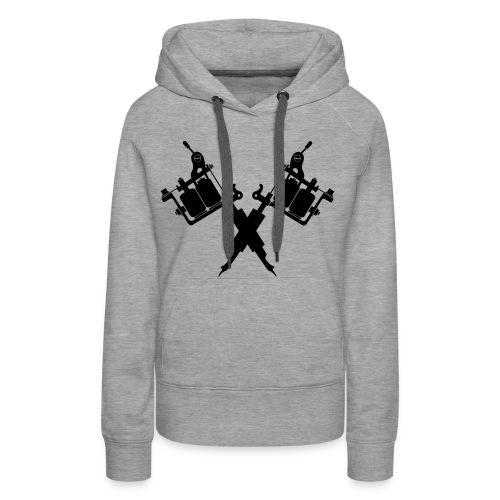 Tattoo School for Winter Noir pailleté - Sweat-shirt à capuche Premium pour femmes