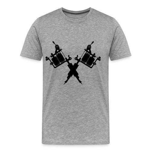 Tattoo School for Winter Noir pailleté - T-shirt Premium Homme