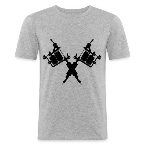 Tattoo School for Winter Noir pailleté - T-shirt près du corps Homme