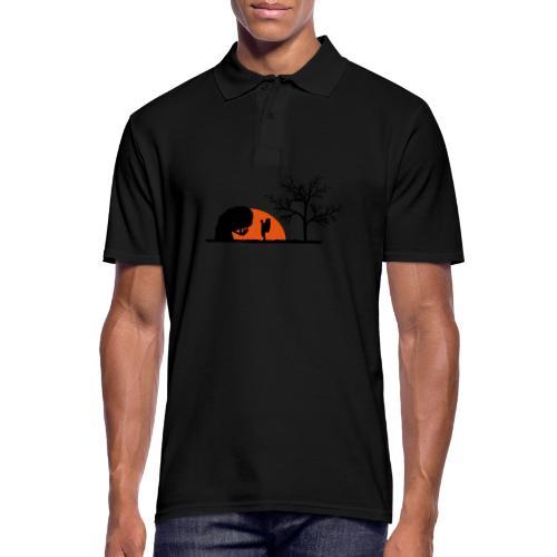 Boulderer im Sonnenuntergang - Männer Poloshirt