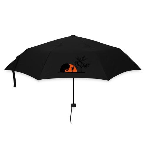 Boulderer im Sonnenuntergang - Regenschirm (klein)