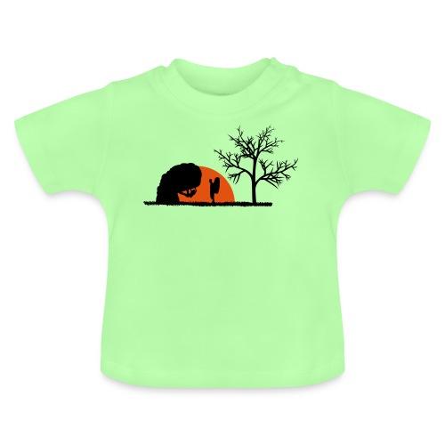 Boulderer im Sonnenuntergang - Baby T-Shirt