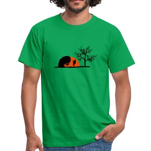 Boulderer im Sonnenuntergang - Männer T-Shirt