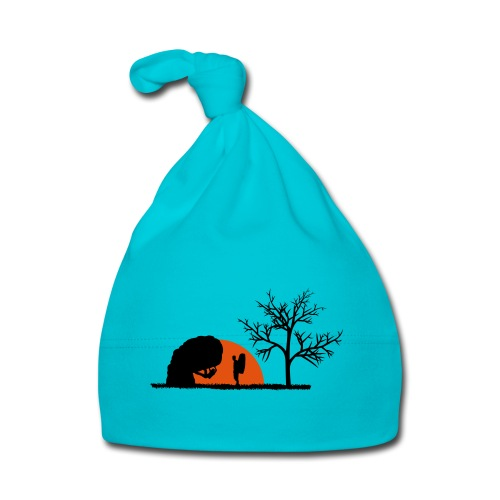 Boulderer im Sonnenuntergang - Baby Mütze