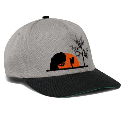 Boulderer im Sonnenuntergang - Snapback Cap