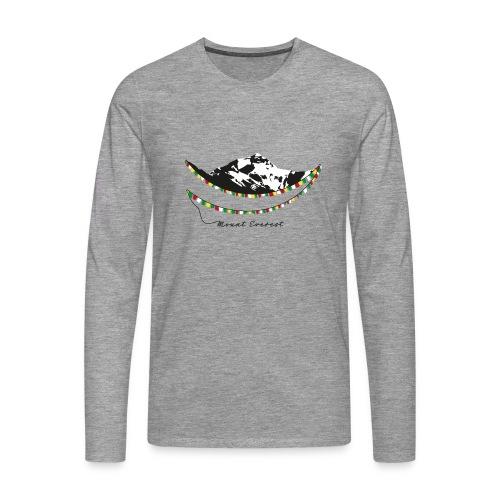 Mount Everest - Männer Premium Langarmshirt
