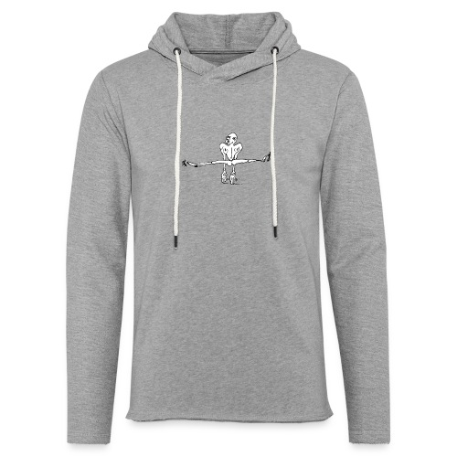 Kletterer im Spagat T-Shirts - Leichtes Kapuzensweatshirt Unisex