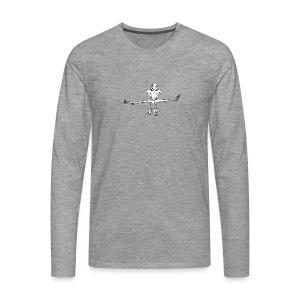 Kletterer im Spagat T-Shirts - Männer Premium Langarmshirt