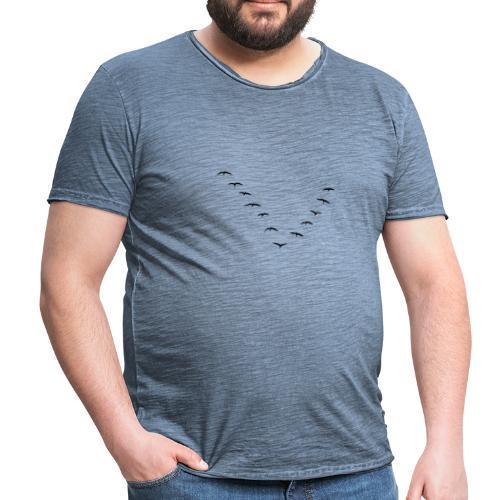 Zugvögel - Männer Vintage T-Shirt