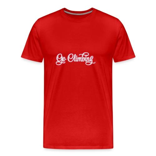 go climbing - Männer Premium T-Shirt