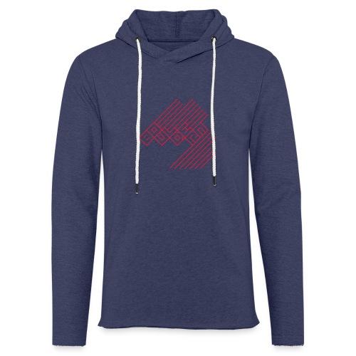 Bouldern Logo - Leichtes Kapuzensweatshirt Unisex