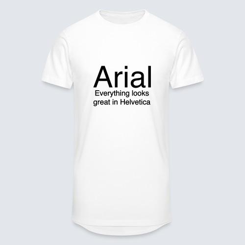 arial helvetica - Männer Urban Longshirt