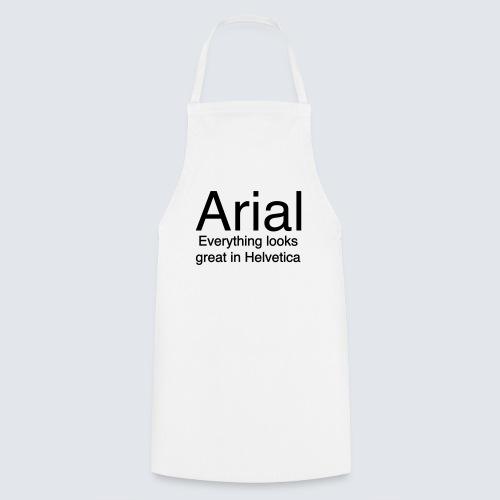arial helvetica - Kochschürze