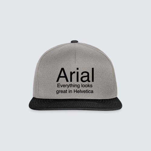 arial helvetica - Snapback Cap