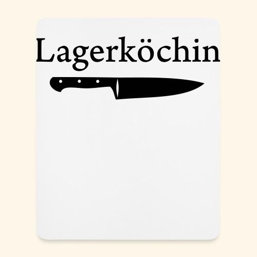 Lagerköchin, Messer - Mädls - Mousepad (Hochformat)
