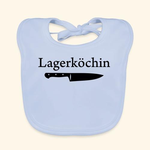 Lagerköchin, Messer - Mädls - Baby Bio-Lätzchen