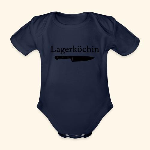 Lagerköchin, Messer - Mädls - Baby Bio-Kurzarm-Body