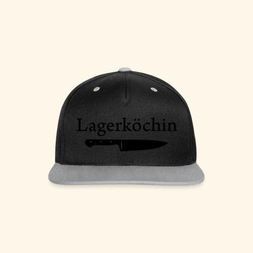 Lagerköchin, Messer - Mädls - Kontrast Snapback Cap