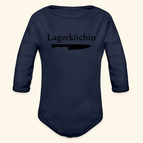 Lagerköchin, Messer - Mädls - Baby Bio-Langarm-Body