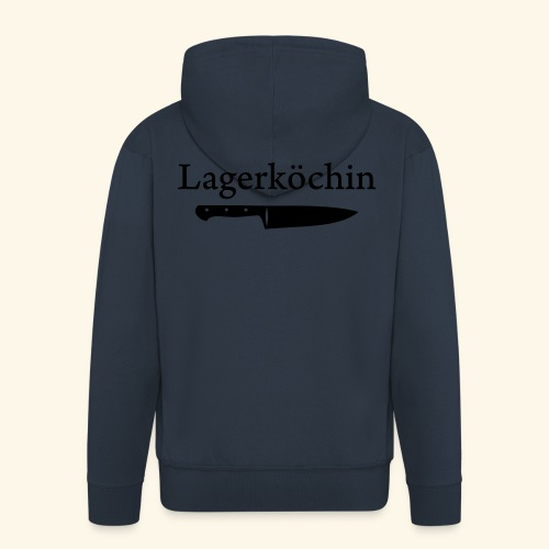 Lagerköchin, Messer - Mädls - Männer Premium Kapuzenjacke