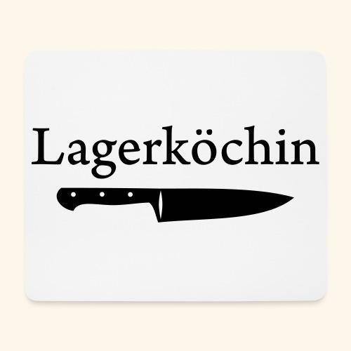 Lagerköchin, Messer - Mädls - Mousepad (Querformat)