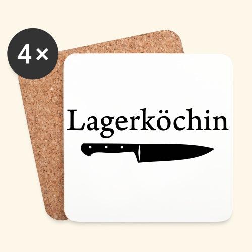 Lagerköchin, Messer - Mädls - Untersetzer (4er-Set)