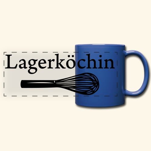 Lagerköchin, Schneebesen - Mädls - Panoramatasse farbig