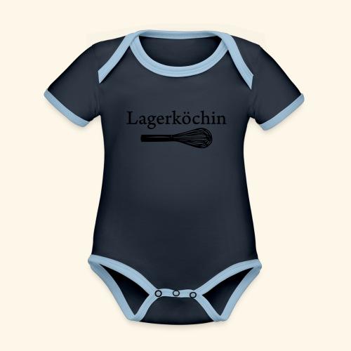 Lagerköchin, Schneebesen - Mädls - Baby Bio-Kurzarm-Kontrastbody