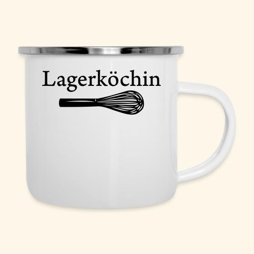 Lagerköchin, Schneebesen - Mädls - Emaille-Tasse